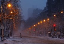 At first the storm gave way to some pretty beautiful landscape shots, like this one of Beacon street. (The Atlantic Wire)