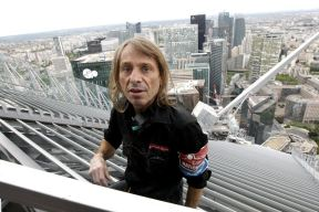 "French climber Alain Robert, also known as ""Spiderman"", scales the 231 metre First Tower at the La Defense business district outside Paris May 10, 2012. REUTERS/Benoit Tessier 11 / 20Share to FacebookShare to TwitterShare to Pinterest ClosePrevious imageNext image"