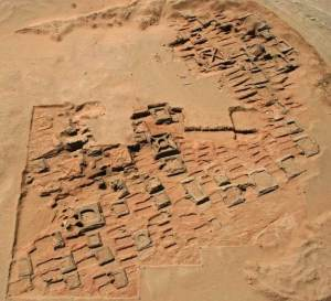 This aerial photo shows a series of pyramids and graves that a team of archaeologists has been exploring at Sedeinga in Sudan. Since 2009 they have discovered at least 35 small pyramids at the site, the largest being 22 feet (7 meters) in width. Although the tops are not attached, the base of the pyramids can be seen. The pyramids date back around 2,000 years.