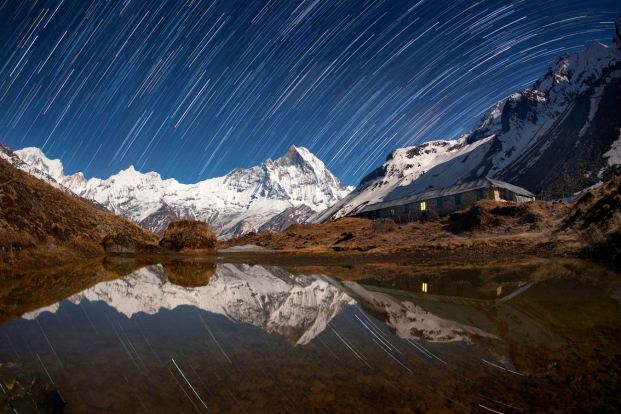 A Himalayan nightscape. PIC BY ANTON JANKOVOY / CATERS NEWS