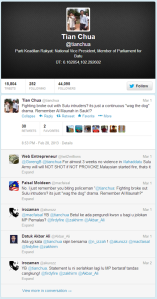 Tian Chua's tweet on March 1st regarding the Lahad Datu Shooting.