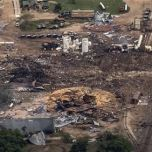 Copyright © 2013 Yahoo! Inc. All rights reserved. | Yahoo! - ABC News Network | Help / Suggestions Privacy Policy About Our Ads Terms of Service Copyright/IP Policy An aerial view shows the aftermath of a massive explosion at a fertilizer plant in the town of West, near Waco, Texas April 18, 2013. REUTERS/Adrees Latif