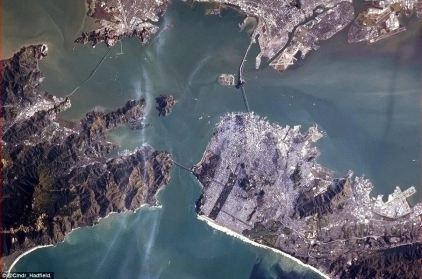 San Francisco Bay with a view of the Golden Gate Bridge