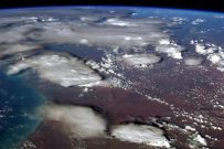 Tonight's finale: The pall of smoke clouds over Australia, as seen from orbit. A rare view of the bushfires' effect