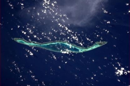 An island made for running laps. Off the coast of Indonesia