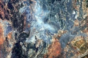 The wondrously wildly beautiful surface of our world (near the Etosha Pan in Africa).
