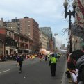 A photo of the apparent explosion posted on Twitter (photo via Boston to A T)