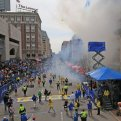 Two explosions went off near the finish line of the 117th Boston Marathon on April 15, 2013. (Photo by David L. Ryan/The Boston Globe via Getty Images)