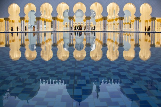 SHEIKH ZAYED MOSQUE (Photo and caption by Dhafer Al Shehri/ National Geographic Travel Photo Contest)