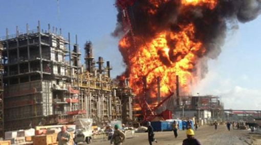 GEISMAR, La. -- A ground-rattling explosion Thursday at a chemical plant in Louisiana ignited a blaze that killed one person and injured dozens of others, authorities said. Witnesses described a chaotic scene of flames as high as 200 feet into the air and workers scrambling over gates to escape the plant.