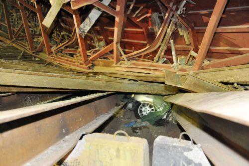 Scene of the Second Penang Bridge ramp collapse.- Gary Chen/The Star - 7 June, 2013