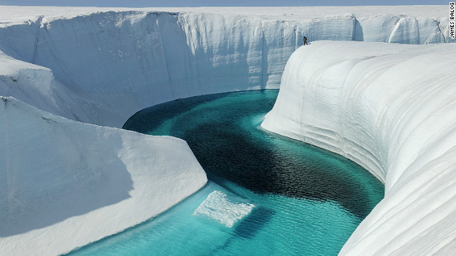 Birthday Canyon, Greenland Ice Sheet, Greenland, June 2009. Courtesy of James Balog