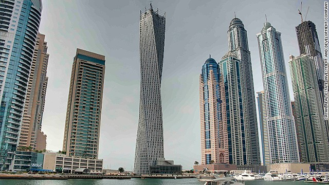 The structure stands at 307 meters high with each floor rotated by 1.2 degrees.The structure stands at 307 meters high with each floor rotated by 1.2 degrees.