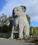 The Giant Koala, Dadswells Bridge, Australia A koala looks cute as a button, unless you're looking at the Giant Koala at Dadswells Bridge near the Grampians National Park. This monstrous 49-foot marsupial appears ready to devour whole any passing motorists. The Aussie landmark was built in 1988 by sculptor Ben Van Zetten and recently sold for around half a million dollars.