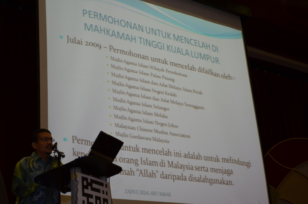 Dato' Zainul Rijal bin Abu Bakar during his speech