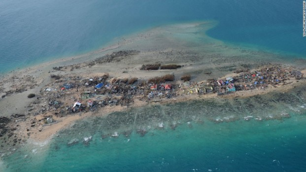 Destroyed buildings are seen on the Philippines' Victory Island on Monday, November 11. Typhoon Haiyan, one of the strongest storms in recorded history, wrecked the country on a monumental scale. Click through the gallery to see other aerial shots of the disaster.