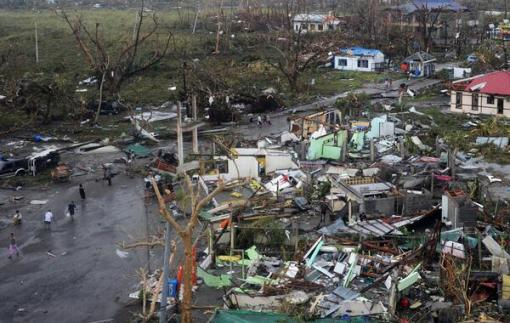 Devastation in Tacloban City. New Getty photo.