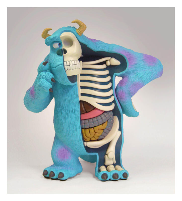 Monsters Inc hero Sulley. (Jason Freeny/Mercury Press & Media/Caters News)Cartoons Stripped