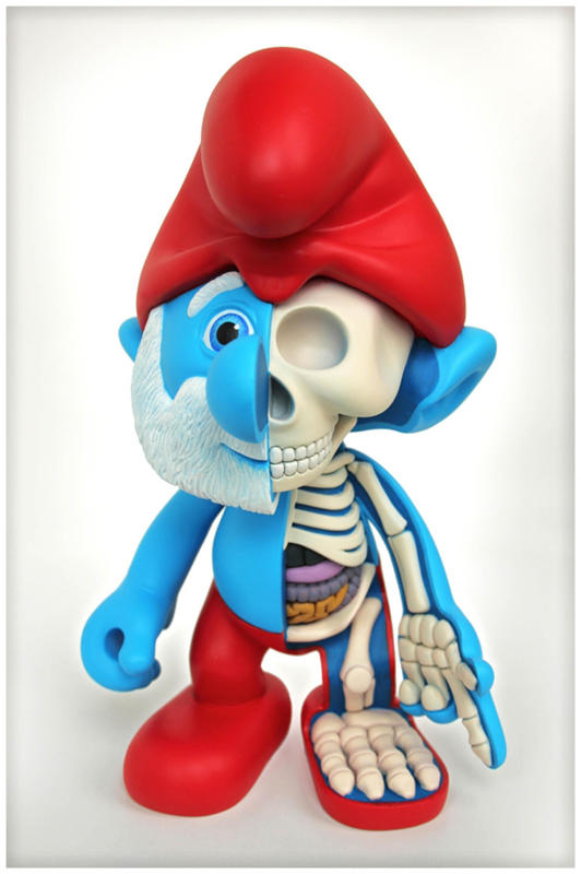 Papa Smurf. (Jason Freeny/Mercury Press & Media/Caters News)Cartoons Stripped
