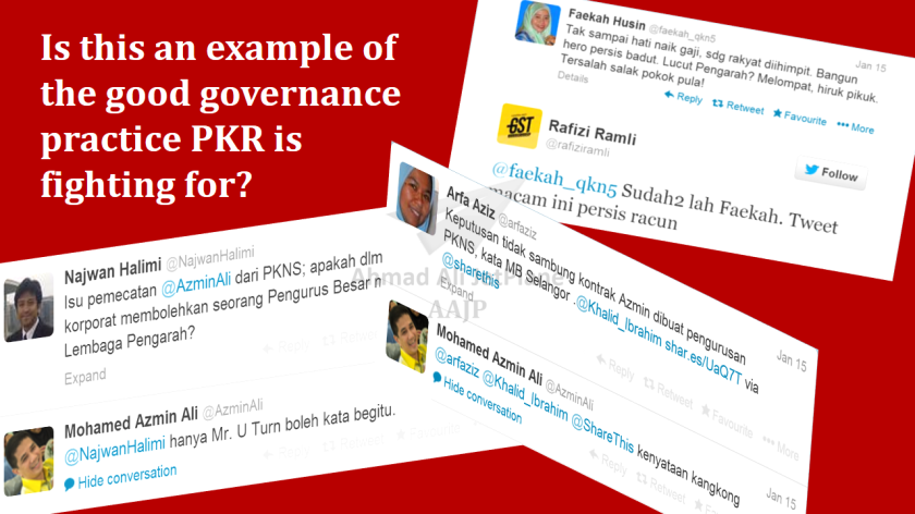 Good Governance à la PKR. The image looks so 'kalam kabut' as the PKR.