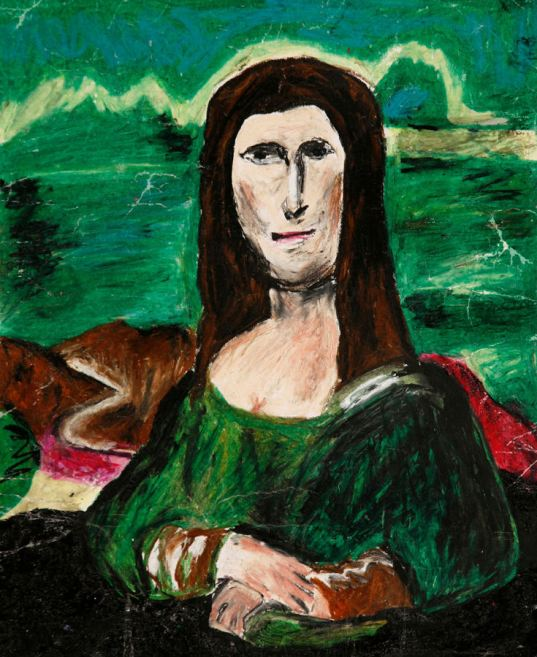 The Museum of Bad Art in Boston, US, is the world's 'only museum dedicated to the collection, preservation, exhibition and celebration of bad art in all its forms', according to its website. The collection is made up of art found in charity shops, recovered from rubbish bins or even donated by artists themselves. This piece, called 'Mana Lisa', by A. Schmidt, was donated by the artist. (MOBA/Rex Features)