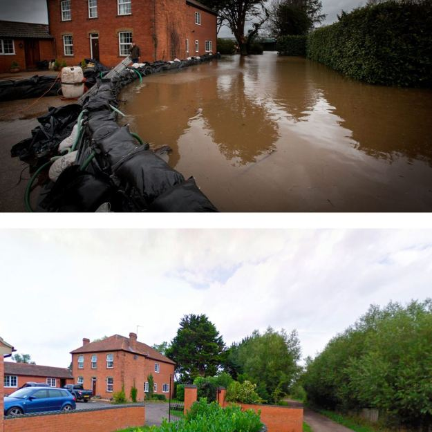 The flood destruction at Lesley Webber's home, in East Lyng, Somerset. The flood water is starting to slowly seep from beneath into the house after a long battle against the floods, in a house that has never flooded in 120 years. (SWNS)