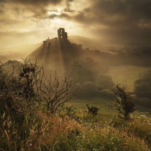 'Corfe Castle in Summer'
