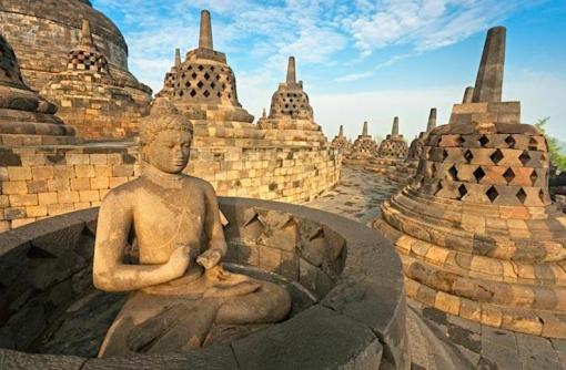 Borobudur Temple Compounds. (Photo Credit: Luciano Mortula/Shutterstock).