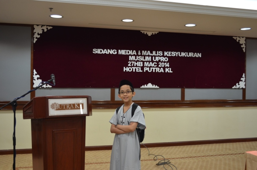 My photo before the program started.