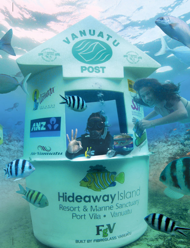 Stunning pictures capture the incredible sight of the worlds first underwater post office (Caters)