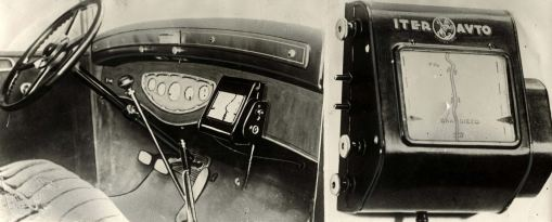 A tripmaster, which had an automatic rolling map on the dashboard with identifying marks, like bridges, crossings and levels, circa 1930s. (Mary Evans Picture Library/CATERS NEWS)