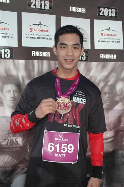Matthew Douglas de Grood, of Calgary, is shown in this image from a Calgary 10k race in 2013. Calgary police say the son of one of their own is a suspect in the worst mass murder in the city's history, a bloody and baffling attack on a group of university students at a house party. THE CANADIAN PRESS