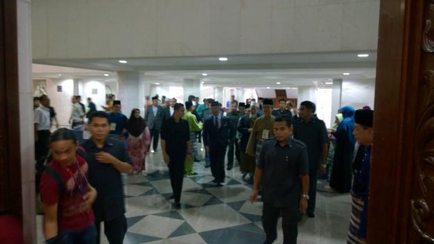 Tan Sri Muhyiddin Yassin arriving at the seminar.