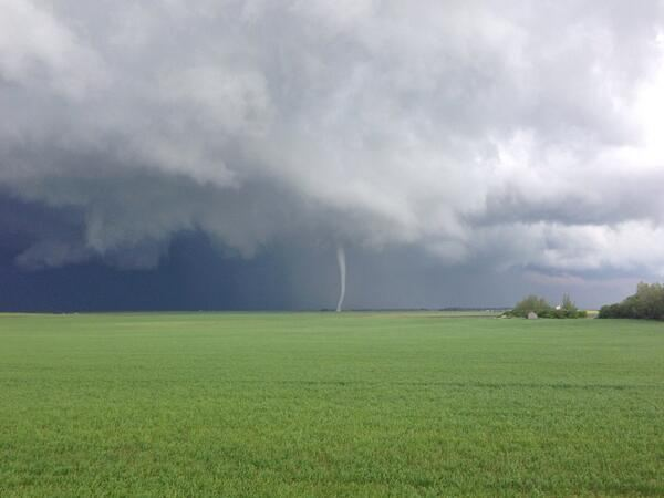A tornado touches down in Kenaston, Sask., on July 5, 2013.