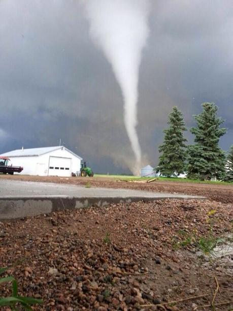 A tornado touches down in Saskatchewan on July 5, 2013.