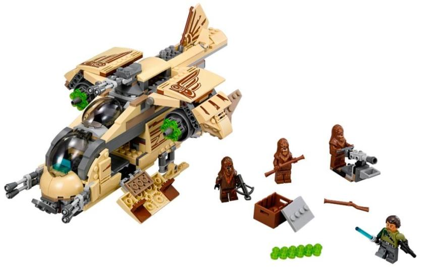 Star Wars Wookie Gunship (Model #75084). Based on the Star Wars: Rebels animated series, the Wookiee Gunship contains 570 parts and will retail for $69.99, starting in January 2015.