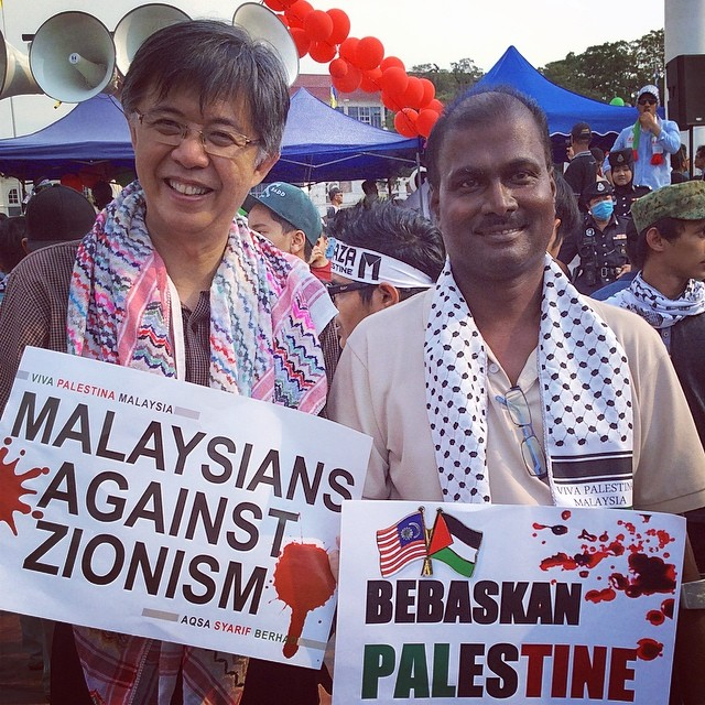 tianchua1963 1 hour ago · Dataran Merdeka With Batu PKR division member & disability activist Isaiah at the rally for peace & solidarity #saveGaza.