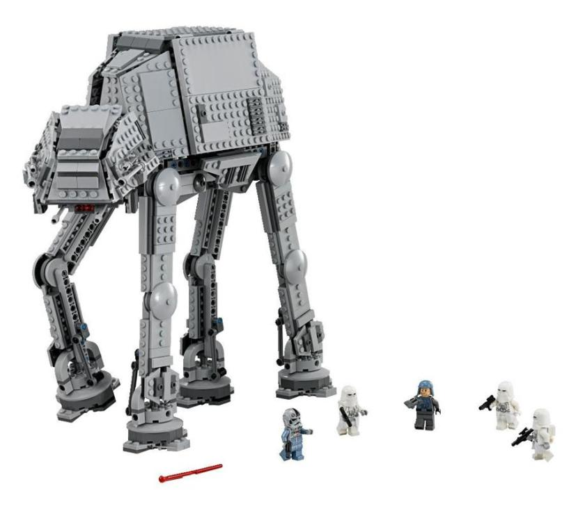 AT-AT (Model #75054). It's not the largest AT-AT model Lego has ever produced, but it's probably the strongest. If you're the type who likes to play with your models as well as build them, this is your kit.
