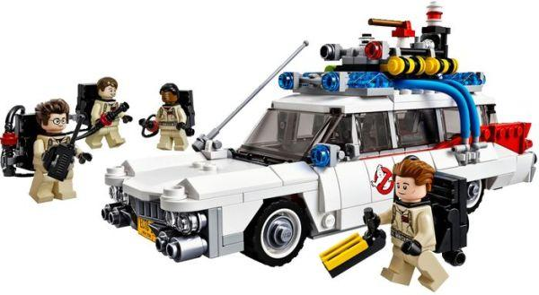 Ghostbusters Ecto-1 (Model #21108). So Ghostbusters has finally gotten old enough to acquire some retro-chic, eh? This model was designed by fans, not professional Lego designers, but it's every bit as good as the stuff the pros come up with.