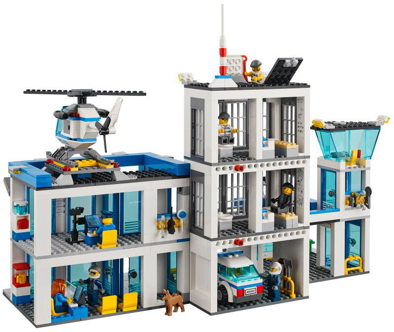 City Police Station (Model #60047). City is one of Lego's best-loved themes, and this new police station has everything you need for cops-and-robbers play. Police vehicles, a helicopter, cells, escape tunnels, cops, criminals: it's all here, even down to the handcuffs.
