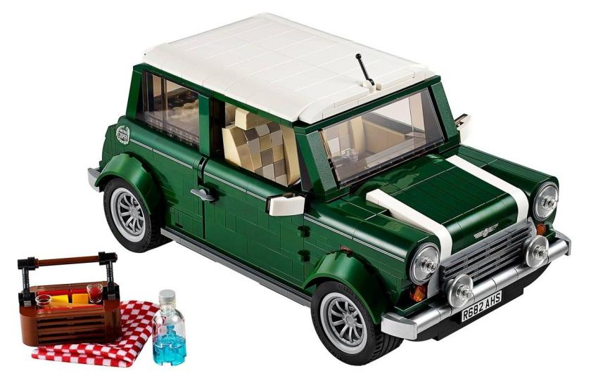 Mini Cooper Mk. VII (Model #10242). It's a mini Mini. Decked out in British Racing Green and packed with details -- even down to a picnic basket and blanket in the trunk -- this gorgeous model is a must for the auto enthusiast.