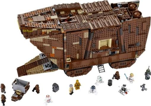 Sandcrawler (Model #75059). Lego fans have been clamoring for a Sandcrawler kit for years. Lego has finally delivered. This hulking model is packed with working features and openable panels, and has a beautifully detailed interior.