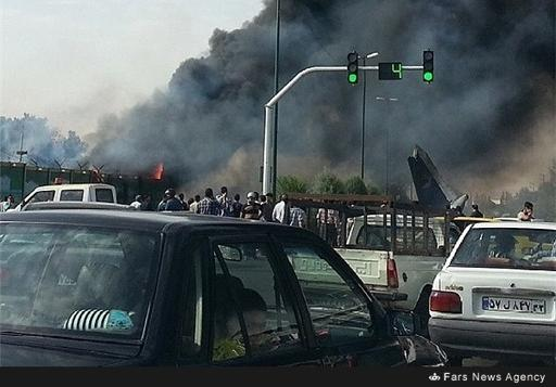This image released by Fars News Agency appears to show the aftermath of the plane crash near Tehran.