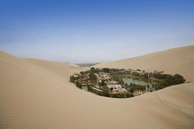 Sandboarding and dune buggy rides attracts backpackers and adrenalin junkies to this striking dessert oasis, 4km west of Ica, in southwestern Peru.
