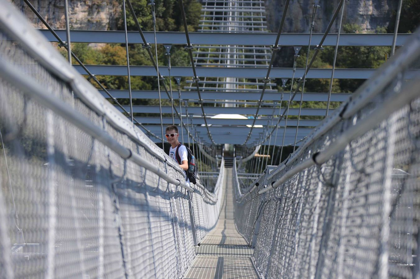 Daunting: The bridge also has a bungee jump facility built into a nearby viewing platform. (CEN)