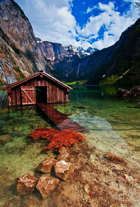 Boathouse, Obersee Lake, Germany. [Passions for Life]