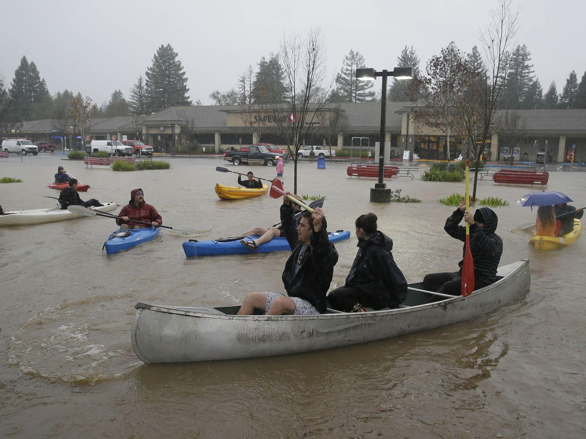 In Photos Ferocious Storm Floods California Ahmad Ali