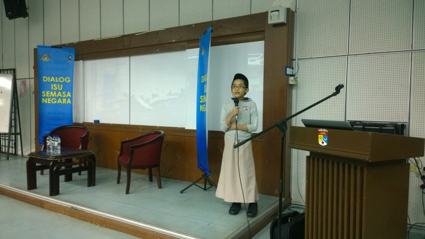 I gave a brief talk about freedom of speech as according to our Federal Constitution, Dec. 18, 2014.
