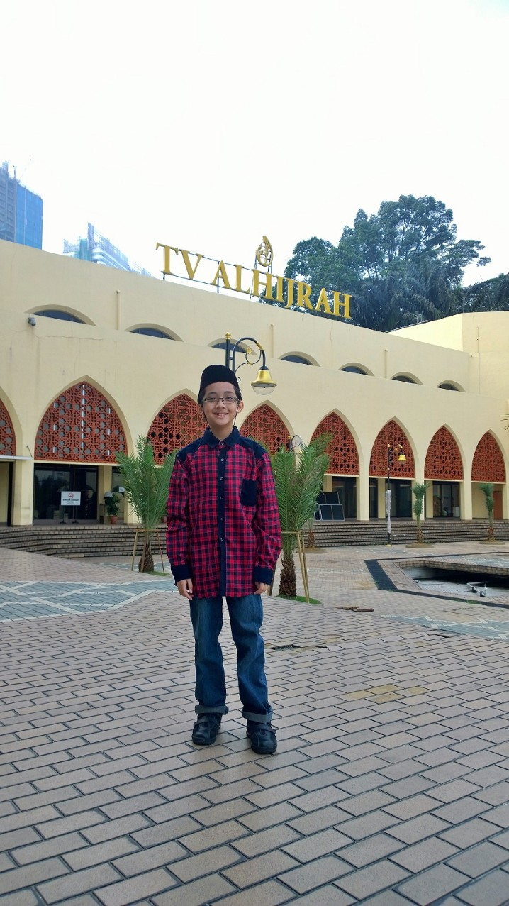 In front of the TV station. I sometimes accompanied my father to TV AlHijrah when was to be on-air.