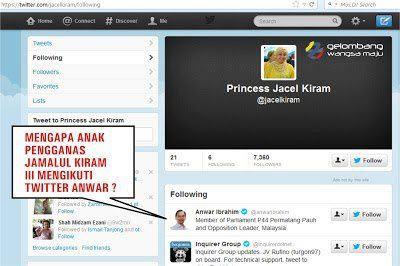A once popular screenshot from Jacel Kiram's twitter page.
